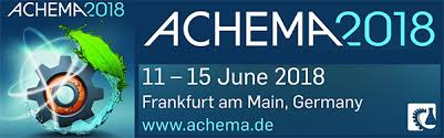 Banner of Achema 2018 World Exhibition Congress on Chemical Engineering, Environmental Protection and Biotechnology