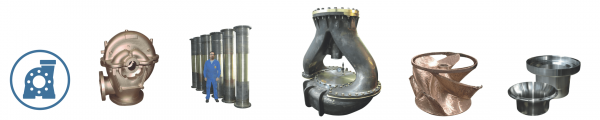 Sand and centrifugal castings products for pumps counting pump housing, shaft, liner, sealing, cover, pump body